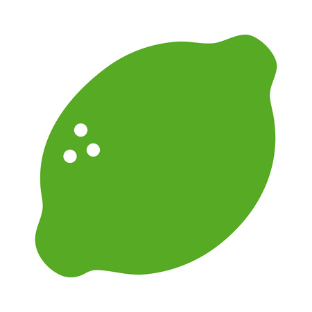 Lime citrus fruit flat color icon for food apps and websites