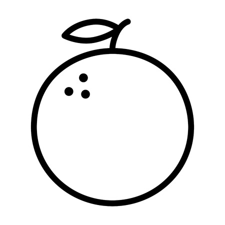 Orange citrus fruit line art icon for food apps and websites
