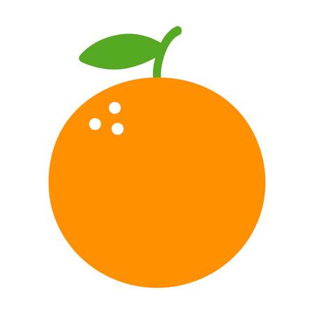 zest: Orange citrus fruit flat color icon for food apps and websites
