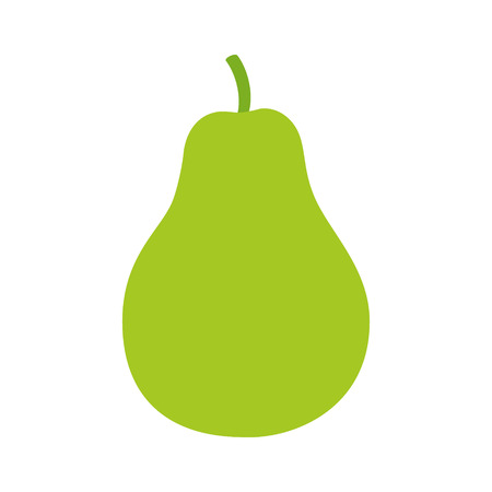 pyrus: Pear  pyrus fruit flat color icon for food apps and websites