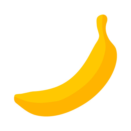 plantain: Yellow banana  cooking plantain fruit flat icon for food apps and websites