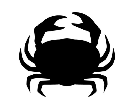 crustacean: Crab or crustacean flat icon for food apps and websites
