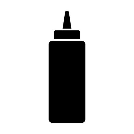 Ketchup of mosterd knijpfles vlak pictogram voor voedsel apps en websites