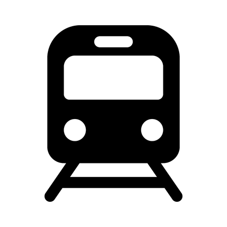 Train  railroad  subway flat icon for transportation apps and websites