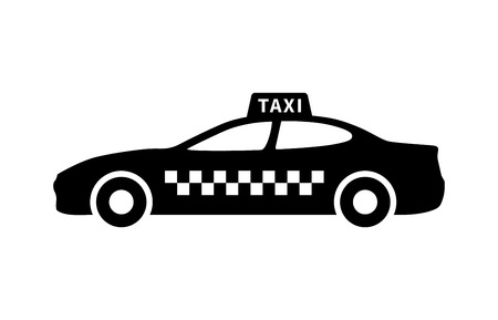 taxicab: Taxi or taxicab flat icon for transportation apps and websites