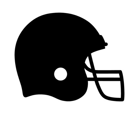 gridiron: American gridiron football helmet flat icon for apps and sports websites