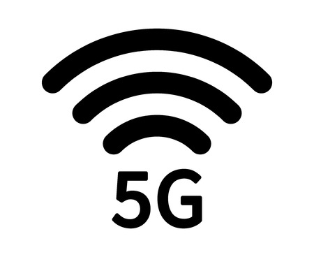 5th: 5G 5th generation mobile network wireless speed flat icon for apps and websites