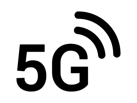 5G 5th generation mobile network wireless speed flat icon for apps and websites