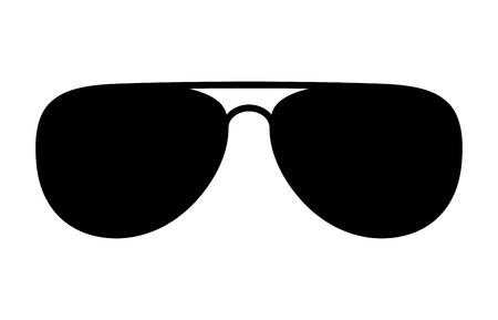 eyewear: Aviator sunglasses  shades protective eyewear flat icon for apps and websites Illustration