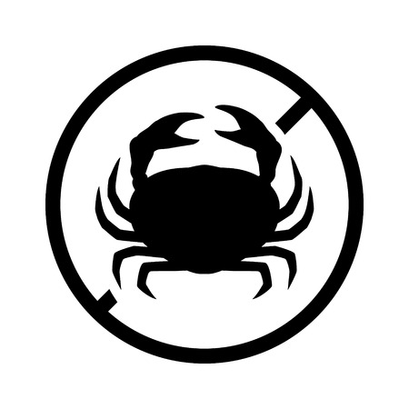 hypersensitivity: crab free or crustacean free food allergy product dietary label for apps and websites
