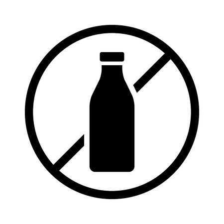 non: milk or dairy free food allergy product dietary label for apps and websites