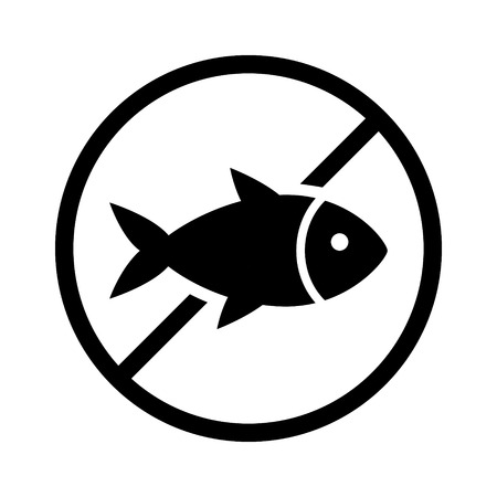 food allergy: fish or seafood free food allergy product dietary label for apps and websites Illustration
