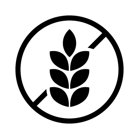 food allergy: gluten free or non gluten food allergy product dietary label for apps and websites Illustration