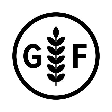 gluten etiqueta de la dieta libre de gluten o no de alimentos producto de la alergia para aplicaciones y sitios web