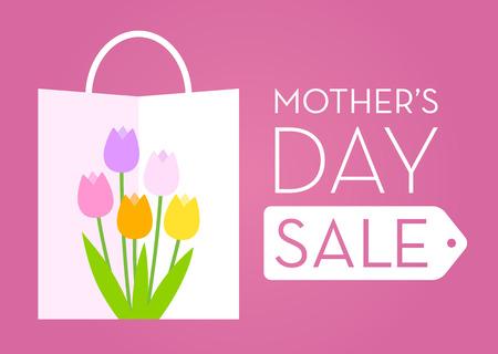 Cartel de mostrar la promoción de venta del día de madre Foto de archivo - 52119657