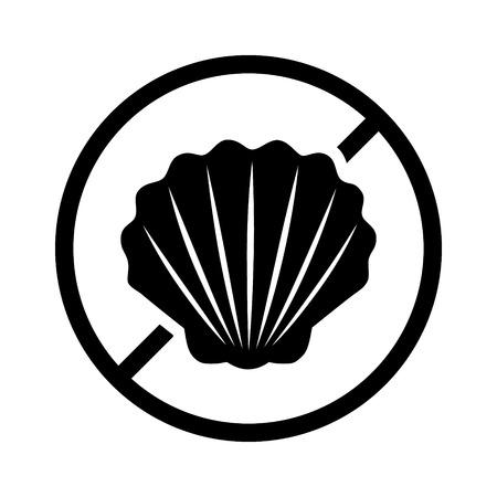 etiqueta de la dieta libre de alimentos crustáceos o peces cáscara de la alergia producto para aplicaciones y sitios web