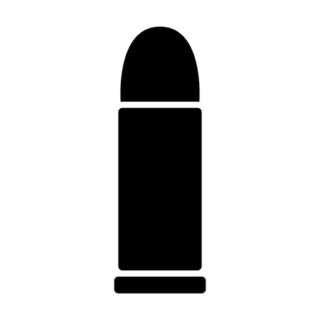munition: Bullet projectile ammunition cartridge flat icon for apps and websites