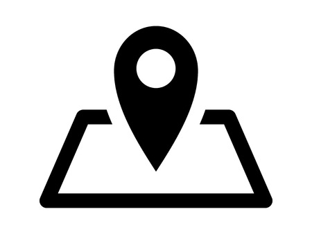 Map marker location on map flat icon for apps and websites