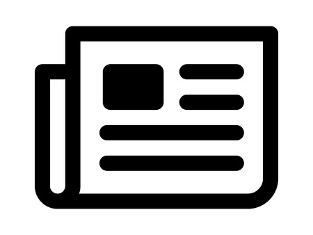 Kranten brekende nieuws van lijntekeningen icoon voor apps en websites