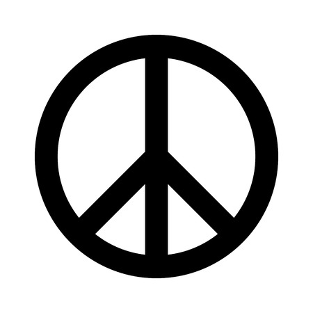 treaty: Peace sign flat icon for apps and websites Illustration