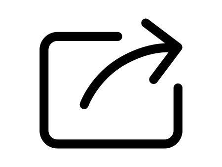 preference: Share or export with arrow line art icon for apps and websites