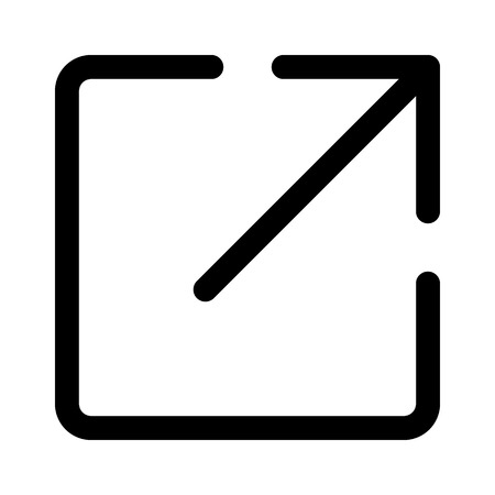 Share or export with arrow line art icon for apps and websites