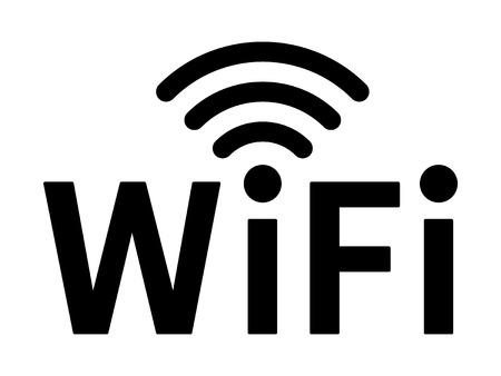 wireless internet: Wifi wireless internet network signal flat icon for apps