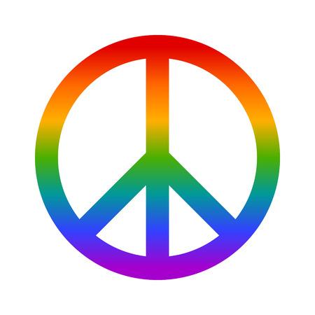 simbolo della pace: icona piatto arcobaleno simbolo della pace per le applicazioni e siti web