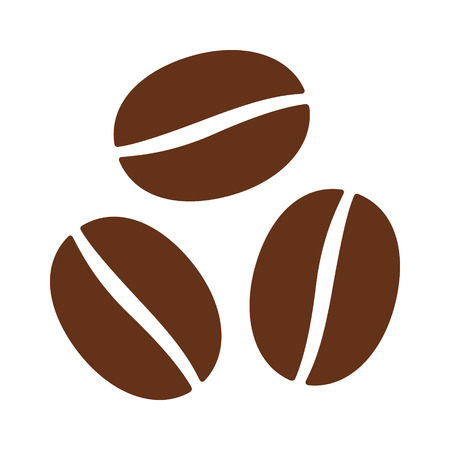 expresso: Coffee beans  seeds flat color icon for food apps and websites Illustration
