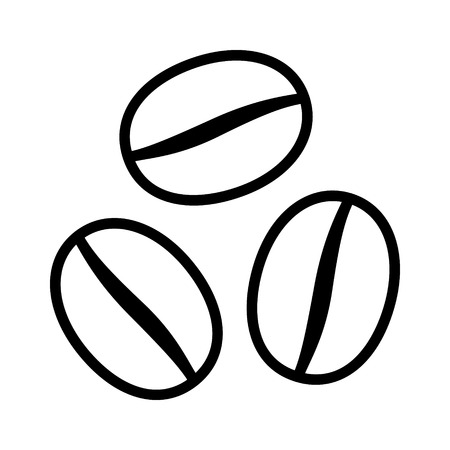 expresso: Coffee beans  seeds line art icon for food apps and websites