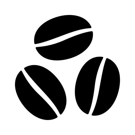Coffee beans  seeds flat icon for food apps and websites Illustration