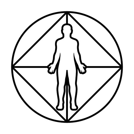 Virtual reality immersion diagram line art icon for apps and websites