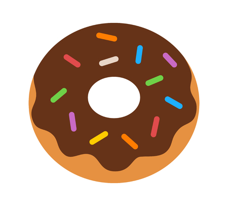 confection: icon , flat , vector , design , app , isolated , outline , graphic , website , line , illustration , clipart , donut , doughnut , food , dessert , confection , sweet , snack , sprinkles , chocolate , frosting , baked , goods , baking , bakery , dough , co