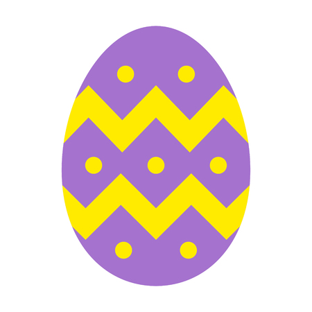 pasch: Decorative Easter egg flat color icon for apps and websites Illustration