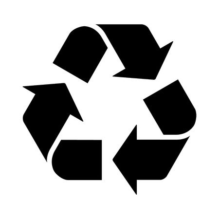 Riciclare o riciclare icona piana di frecce per app e siti Web