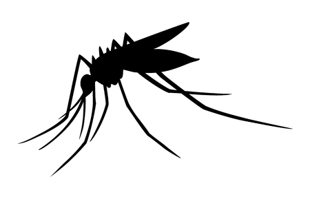 transmit: Mosquito insect silhouette flat icon for apps and websites