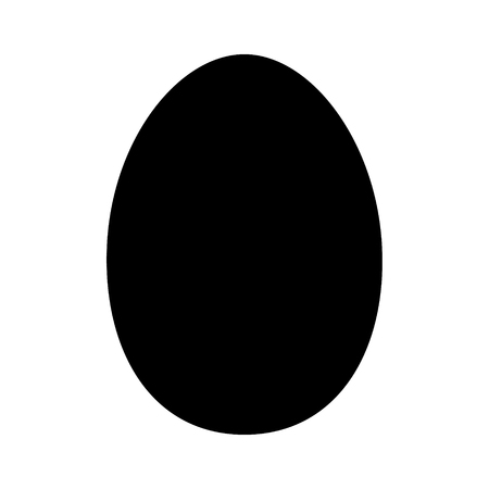raw egg: Chicken egg or duck egg flat icon for apps and websites