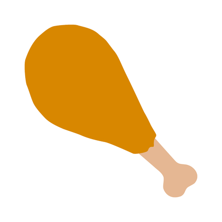 a leg: Chicken leg or drumstick flat color icon for food apps and websites