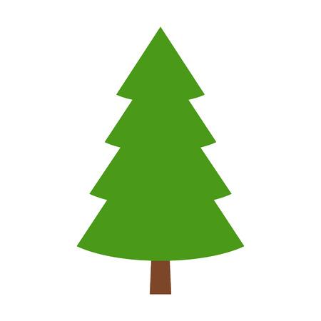 arbol de pino: icono de color estilizada plana de hoja perenne de coníferas  árbol de pino para aplicaciones y sitios web