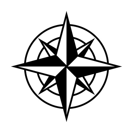 Compass rose or windrose / rose of the winds flat icon for apps and websites
