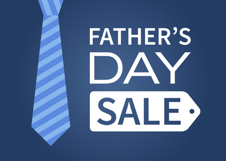 Happy Fathers Day sale vector display poster