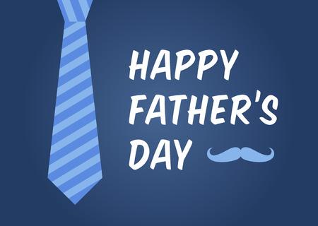 El día de tarjeta del vector / cartel de mostrar de padre feliz Ilustración de vector