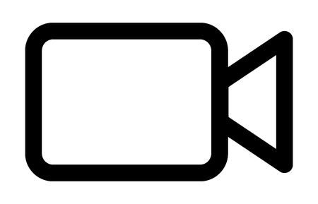Video camera / camcorder line art icon for apps and websites