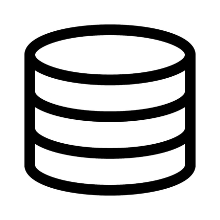 Database server  drum memory line art icon for apps and websites Illusztráció