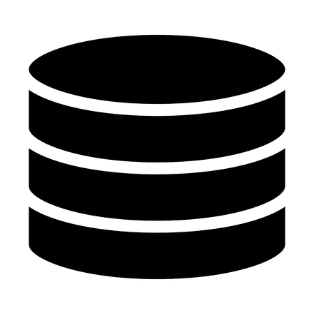 Database server  drum memory flat icon for apps and websites