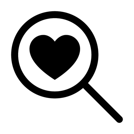 Find love or searching for love line art icon for dating apps and websites
