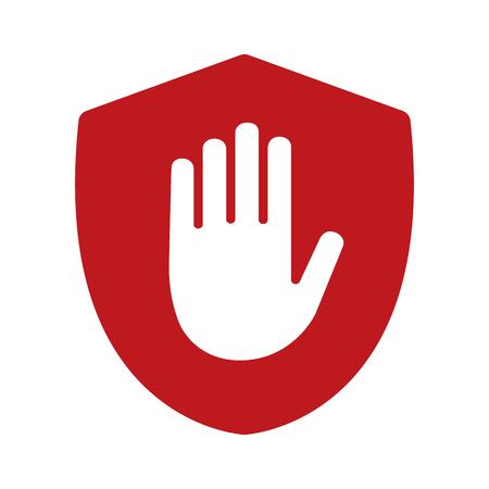 手ブロック シールドadblock フラット アプリと web サイトのアイコン