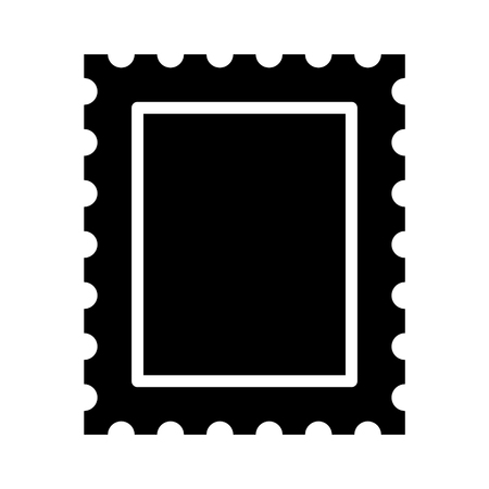 Postage stamp or letter stamp flat icon Illustration