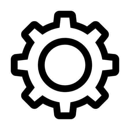 COno de configuración / arte de la línea dentada de gráficos de iconos para aplicaciones y sitios web Foto de archivo - 55016938