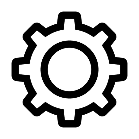 Settings gear / gear cog line art icon for apps and websites